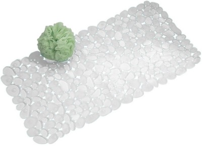 Interdesign PVC Large Bath Mat Pebblz Bath Mat Clear