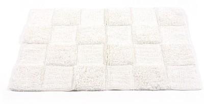 Homefurry White Glossy Tiles Cotton Large Bath Mat Bath Mat, Bath Rugs