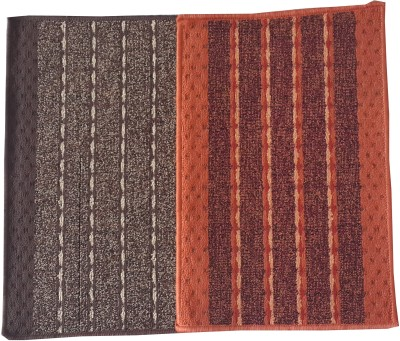 Welhouse Polyester Free Door Mat Striped