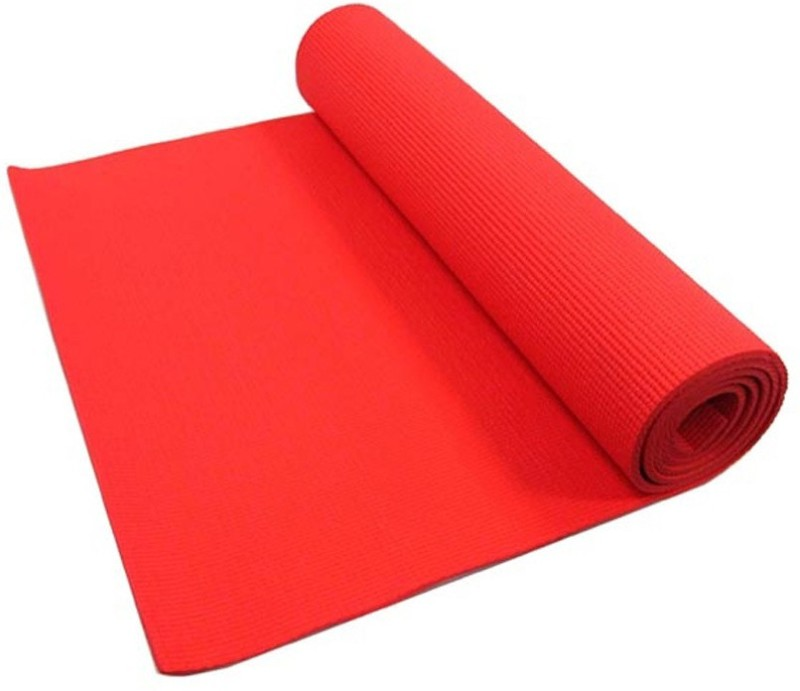 RS Quality Natural Rubber Yoga and Exercise Mat yoga005(Red, Large)