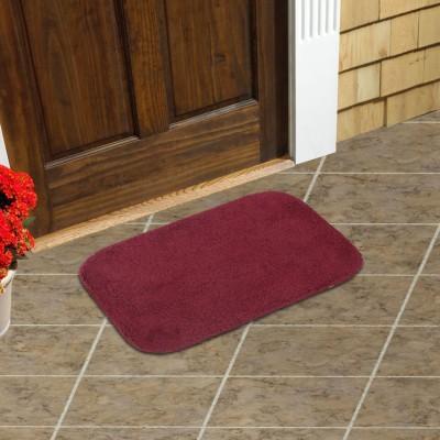 Just Linen Cotton Small Door Mat Floor coverings(Magenta, 1 Mat)