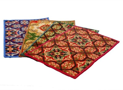 Kuber Industries Jute Medium Door Mat Set of 4 Pcs