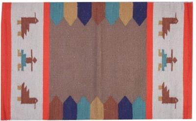 Homenblingss Cotton Small Door Mat Gabbeh Orange rug