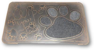Sudesh Handloom Rubber Small Door Mat Golden Black Tiger Paw Printed Designer exclusive Indoor Mat
