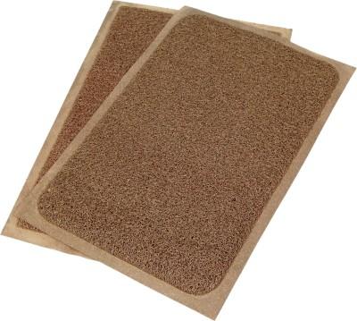 Ritika Carpets PVC Medium Door Mat cushion door mat set of 2