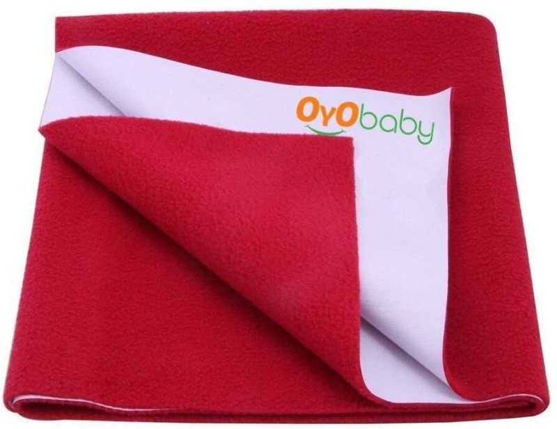 Oyo Baby Cotton Changing Mat Baby Care Sheet(Maroon, Medium)