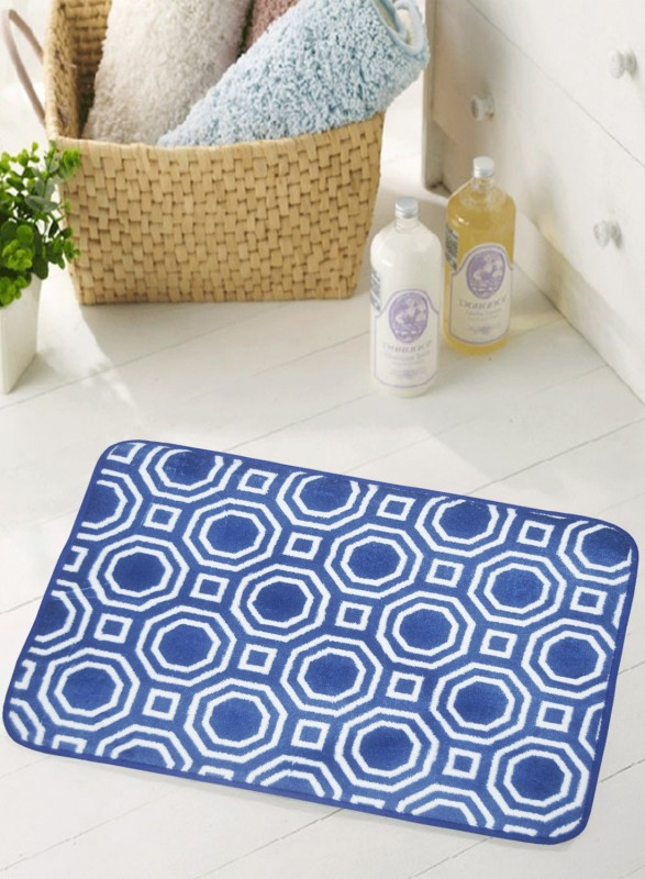 BIANCA Microfiber Anti-slip/Anti-grease Mat BATH MAT(Blue, Medium)