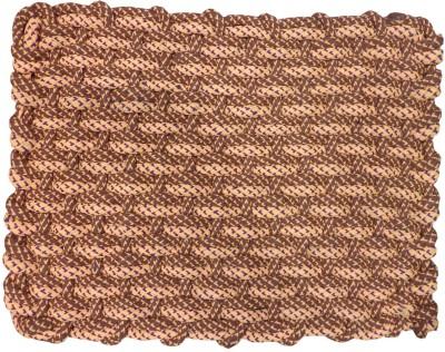 The Intellect Bazaar Cotton, Polyester Small Door Mat Brown Cotton Indoor Mat