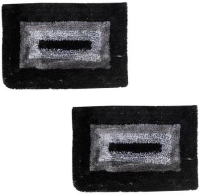 Firangi Cotton, Polyester Free Floor Mat Firangi Set of 2 Decorative Premium Door Mat