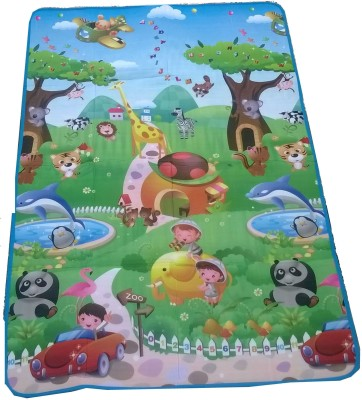 Glitter Polyester Pongee Large Floor Mat Glitter Kids, Double sided Mat