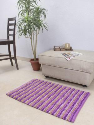 House This Cotton Medium Floor Mat Floor Rug(Purple, 1 Floor Rug)