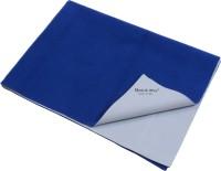 Quick Dry Microfiber Medium Baby Bed Protecting Mat Mat Bed Protector(Cobalt, 1 Mat)