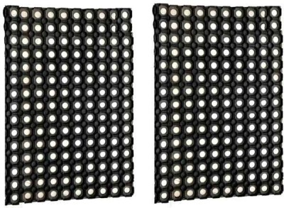 Kuber Industries Cotton Medium Door Mat Door Mat PVC Block Set of 2 Pcs