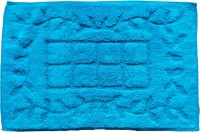 Krishna Carpets Cotton Bath Mat KC-304(Blue, Large)