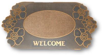 Sudesh Handloom Rubber Medium Door Mat Rose Cut Design Welcome Door Mat