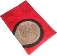 GLOBAL HOME TEX Polyester Medium Anti-slip/Anti-grease Mat D209(Red)