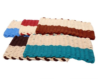 Kuber Industries Jute Medium Door Mat Set of 5 Pcs