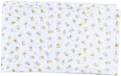 Stuff Jam Plastic Extra Large Sleeping Mat White With Yellow Print Plastic Sheet - Double Xtra Large