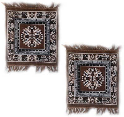 Firangi Cotton, Polyester Free Floor Mat Firangi Set of 2 Designer Multipurpose Prayer Mat