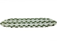 CASA BONITA DELHI PVC Medium Anti-slip/Anti-grease Mat BLACK N GREY(Black, Grey, White, 1 MAT)