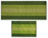Status Nylon Door Mat IRIS_COMBO_GREEN_DM+RUNNER(Multicolor, Medium)