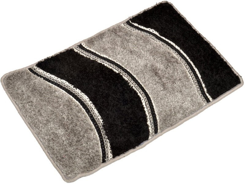 Nirmal Home Furnishing Velvet Door Mat Welcome(Black, Grey, Extra Large)