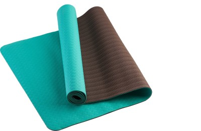 TVALA Microfiber Large Yoga and Exercise Mat Reversible Yoga Mat with Highly Antiskid - Green/Peanut