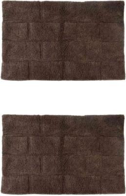 Homefurry Cotton Large Bath Mat Glossy Bricks