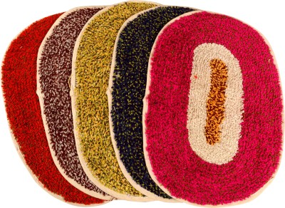 Sambhav Cotton Medium Door Mat Fur Oval Mat