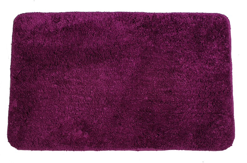 Casa Copenhagen Polyester Bath Mat Non-Skid(Sparkling Grape, Medium)