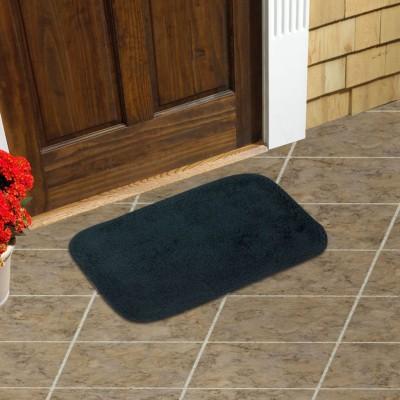 Just Linen Cotton Small Door Mat Floor coverings(Navy Blue, 1 Mat)