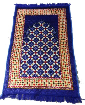Glow Velvet Large Prayer Mat VELVET PRAYER MAT(Multicolor, 1 Mat)