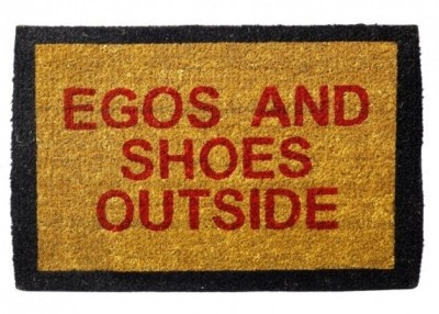 Happily Unmarried Coir Medium Door Mat Egos and Shoes Outside Doormat