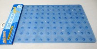 Decorika PVC Bath Mat Bath Mat(Blue, Medium)