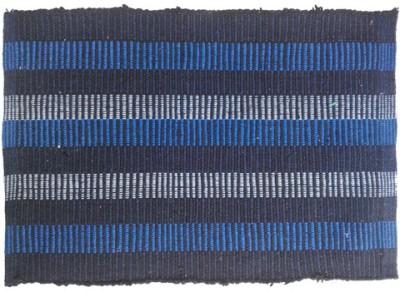 Firangi Cotton, Polyester Free Floor Mat Set of 2 Linear Multicolor Door Mat