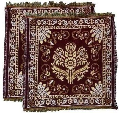 Indian Mad Organic Cotton Free Prayer Mat Aasan Mat(Maroon)