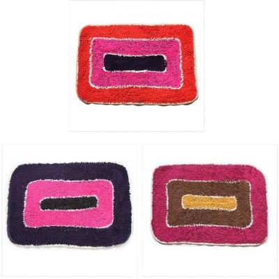 Attractivehomes Cotton Medium Door Mat MT027