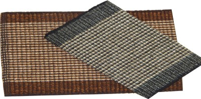 Peponi Cotton Large Floor Mat Peponi Set of Two Chenille Bed Side Runner Mat (Available in multi color)