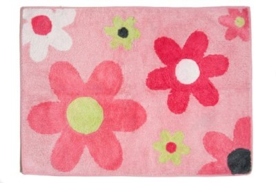 Pam Grace Creations Cotton, Polyester Small Baby Bath Mat Sweet Dream Owl Cotton Rug