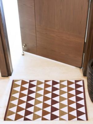 House This Cotton Medium Floor Mat Floor Rug(Brown, 1 Floor Rug)