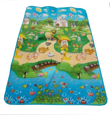 Glitter Polyester Pongee Large Play Mat Glitter Kids, Double Sided Mat , Counting