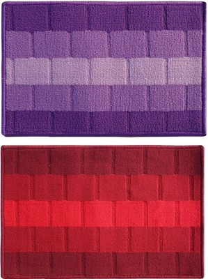 Status Polypropylene Medium Floor Mat Iris_purple_red_2pcs