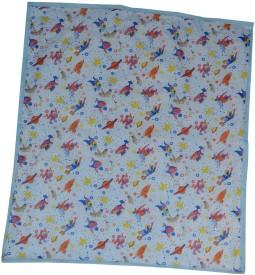 Aarushi Plastic Sleeping Mat Baby Printed Spongy(Blue, Medium)