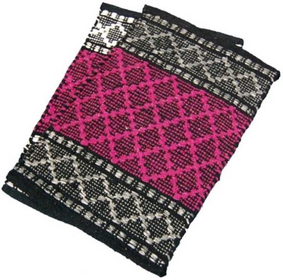 Peponi Polyester Small Door Mat Peponi Red Color Hand Woven Door Mat Set of 2