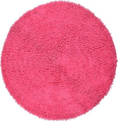 Brabuon Cotton Medium Floor Mat Pink Round Cotton Bath (length 70 cm and width 70 cm)