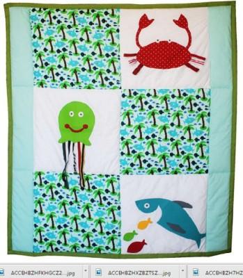 Kadambaby Cotton Medium Play Mat Under the sea Quilt/ Playmat