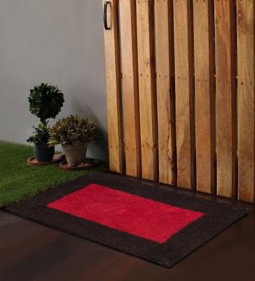 POBO Cotton Medium Floor Mat Po Box Boxy Black& Red 1 Bath Rug 24