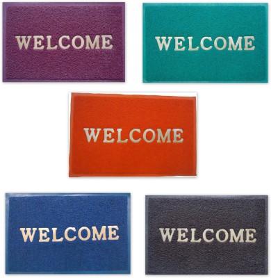 Shopgalore PVC Medium Door Mat Welcome