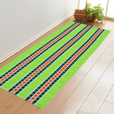 Younique Cotton Large Floor Mat Cotton Handloom Floor Mat Runner (72 Inches X 24 Inches)