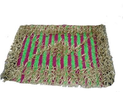 Mrignayaneei Acrylic, Cotton, Silk Medium Door Mat Threaded Cotton Mat